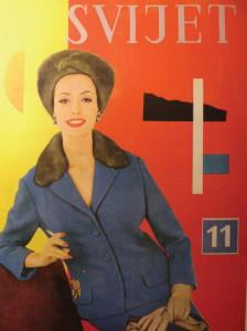 Obálka magazínu Svijet, Aleksandar Srnec, 1956